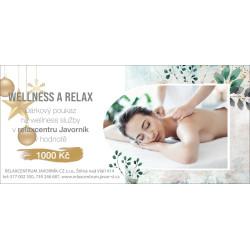 Dárkový poukaz na wellness služby v Relaxcentru...